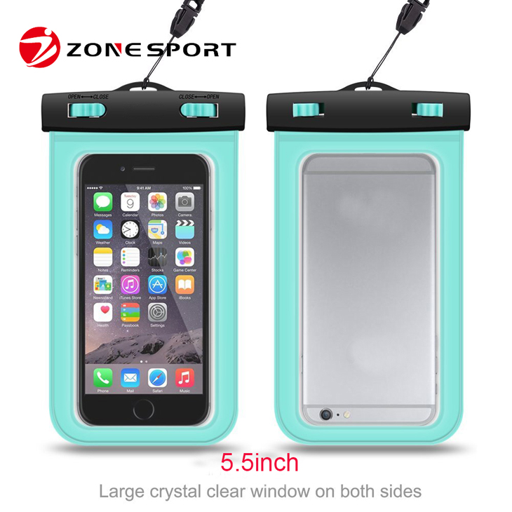 2016 Best selling universal waterproof PVC phone pouch for iPhone6,waterproof bag for Samsung quality assured