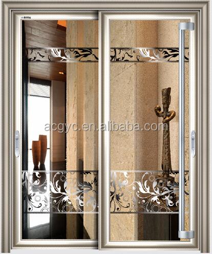 sablage verre porte pour cuisine chambre, intérieur isolé porte ... - Porte De Cuisine En Verre