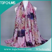 2016 Custom good quality wholesale cotton scarves and shawls