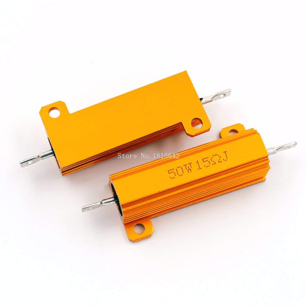 sourcing map 20W 2.7 Ohm Power Resistor Ceramic Cement Resistor Axial Lead White 2pcs