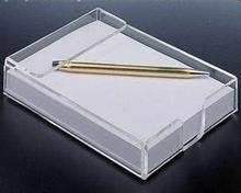elegant rectangle shape acrylic pen holder/lucite memo stand box