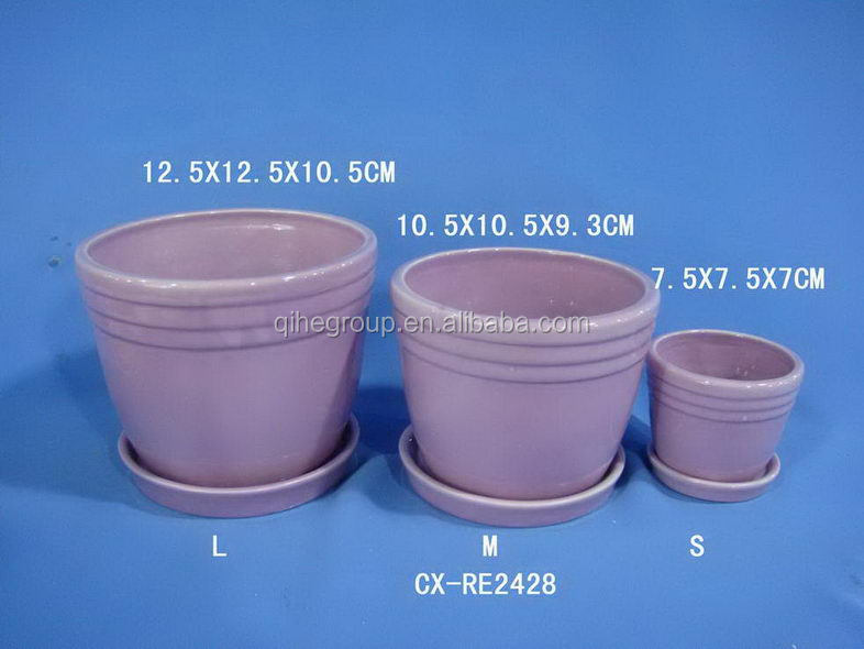 Different Terracotta Pots With Saucer