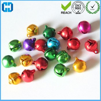 16 MM Jewelry Pendants Decoration Brass Bells With Various Color