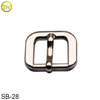 Hot sale silver color metal shoes buckle alloy blank wallet bag metal pin buckle