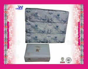 economic plastic package custom printed facial tissue