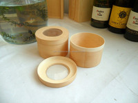 Unfinished Round Wooden Box