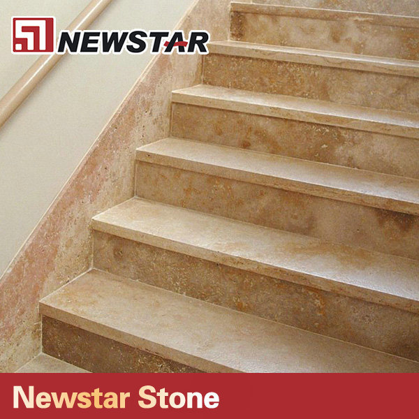 China Natural Stone Travertine Stair Treads