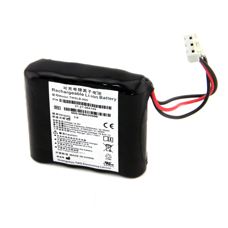 ShenZhen factory EDAN 14.8V 2200mAh rechargeable Li-ion medical battery
