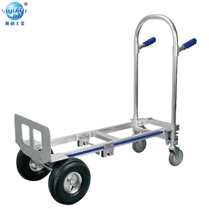 Heavy loads truck platform four wheel wagon/trolley built for commercial warehouses retail stores
