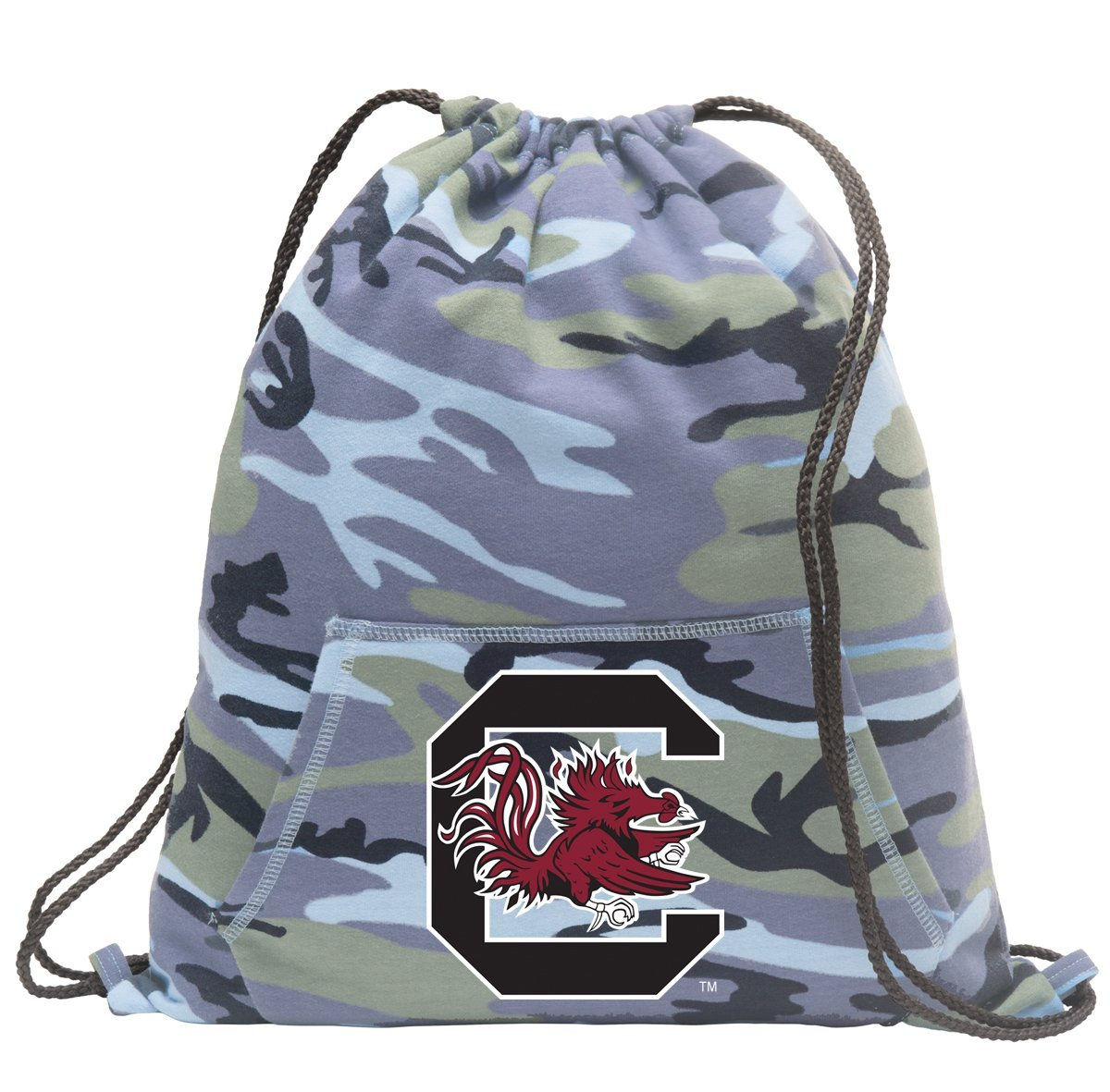 Camo University of South Carolina Drawstring Bag COOL Hoody South Carolina Gamecocks Cinch Pack