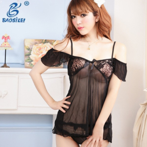 China Style Islamic See Through Transparent Slip Special Design Sexy Lingerie