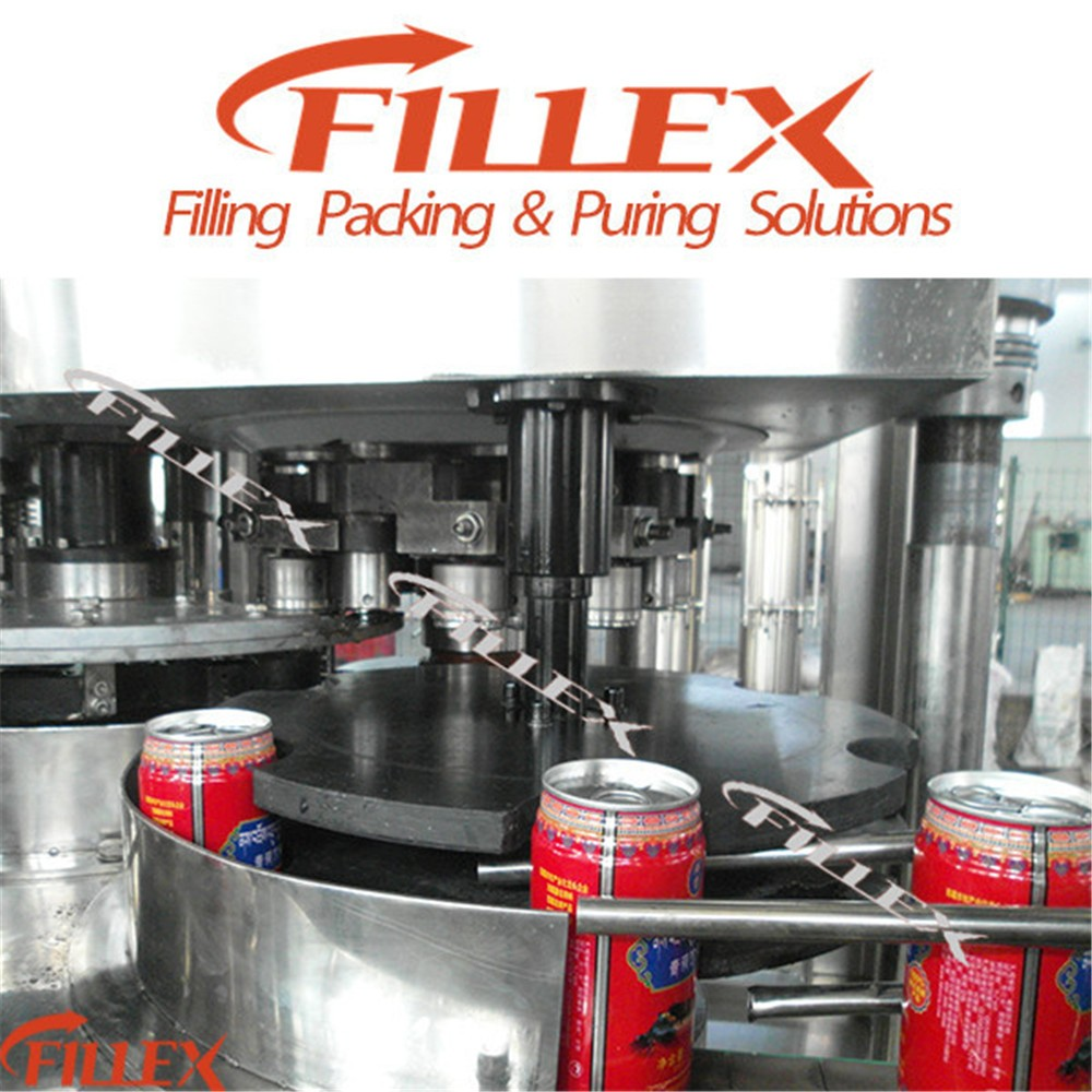Fillex automatic energy drinks and beverage can filling and sealing machine