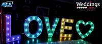 Acs Lovely Colorful Led Giant Love Letter&light Up Love Sign - Buy ...