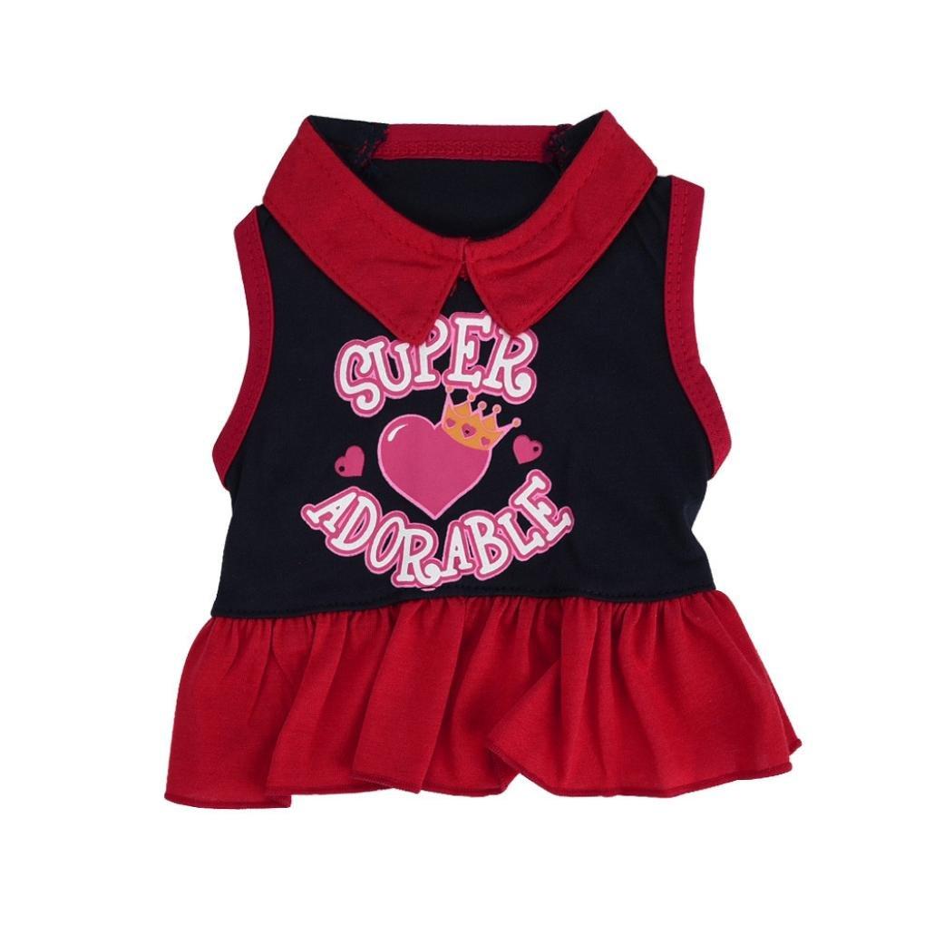 Howstar Pet Dresses Fashion T Shirt Dress Puppy Dog Summer Vest Skirt Costumes Tank Top