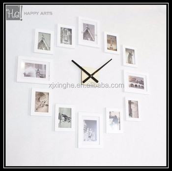 Modern 12 Wood Wooden Photo Picture Frame Diy Wall Clock Frame - Buy ...