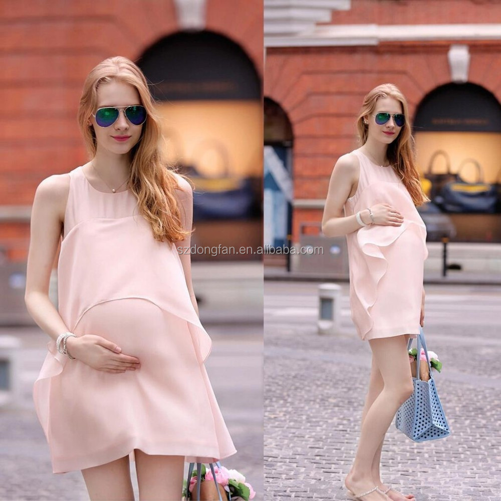 038adb1d13e0 Wholesale Comfortable Chiffon Maternity Clothes Summer Casual Nursing Dress  Clothes For Pregnant Women