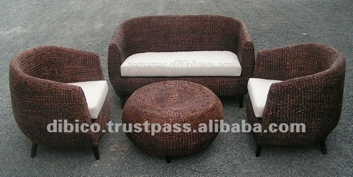 Indoor Furniture Water Hyacinth Sofa Supplieranufacturers At Alibaba