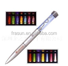 spiral multi color led pen/multi color spiral led pen/Spiral Light Up Multicolor LED pen