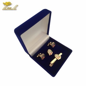 Custom Box Packing Custom Manufacturers Cufflink Tie Clip Set