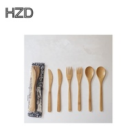 Wholesale Natural Portable Travel Bamboo/Wooden Cutlery Set (fork and spoon)