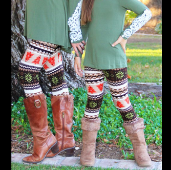 53050bce29362 2017 Family Matching Outfits Boutique Santa Tree Mother Daughter Leggings  Christmas Design Mommy And Me Leggings - Buy Mother And Daughter Matching  ...