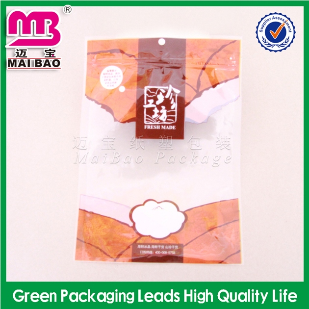 Fashional and high-class pet/pe laminating vacuum ziplock bags for food packaging