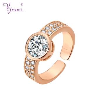 22576e5d3ba7a China Latest Fashion Wedding Design Wholesale Rose Gold/18k Gold/ White  Gold Diamond Ring For Women - Buy Latest Gold Rings Design For Women,Gold  ...