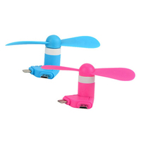 Chinese hot sales mini usb colorful mobile phone fan for car and cell phone for power bank