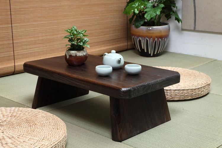 Japanese Antique Tea Table Rectangle 60 35cm Paulownia