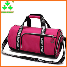 oem solid gym duffel basketball bag with monogrammed strap