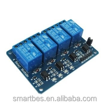 Smart Electronics~4 road relay module extension board with optical coupling isolation supportAVR/51/PIC microcontroller