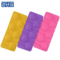 BPA Free Reusable Durable DIY Hard Candy Silicone Lollypop Mold
