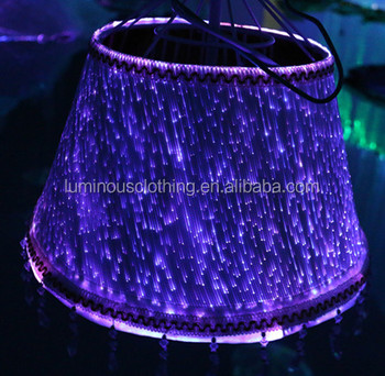 Timeless Optic Fiber Tapered Shallow Drum Lamp Shade