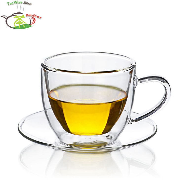 popular glass tea cups saucers buy cheap glass tea cups saucers lots from china glass tea cups. Black Bedroom Furniture Sets. Home Design Ideas