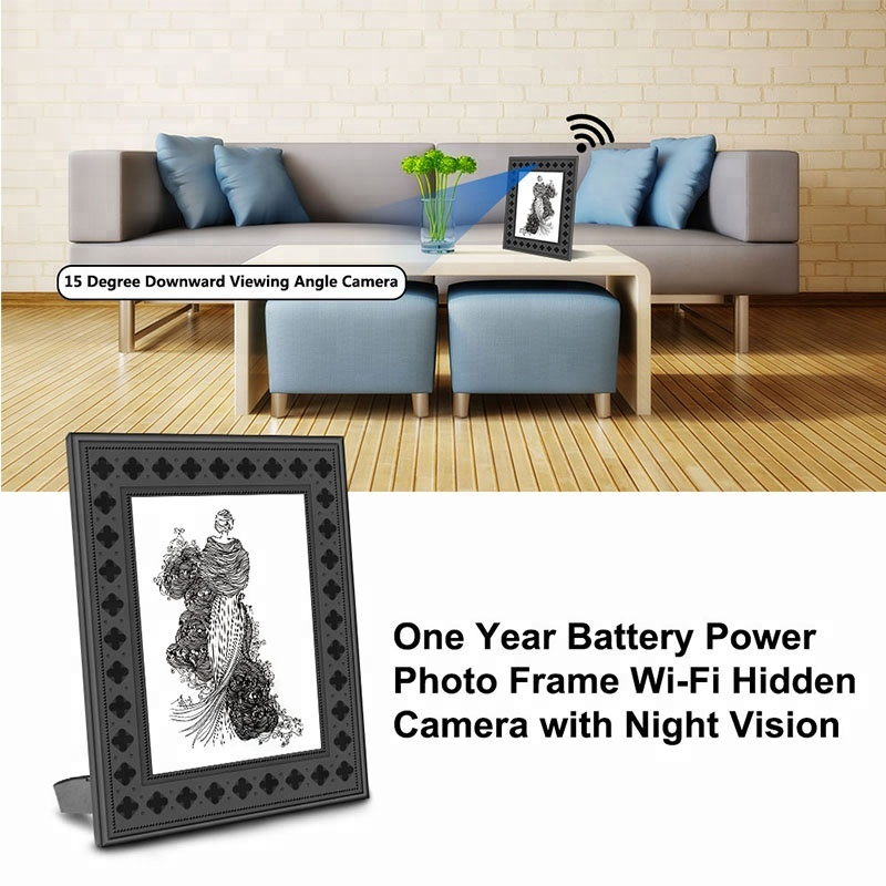 1080P Wifi Mini HD Digital Photo Frame  Camera WiFi IP P2P Camera