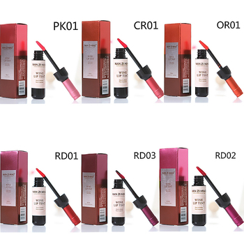 OEM private label 6 colors Waterproof Red Wine bottle Lip Tint