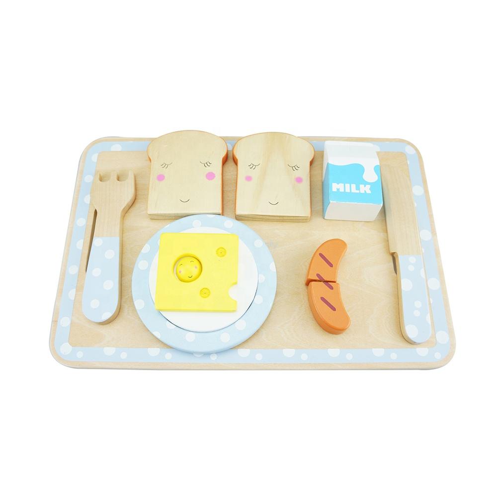 Solo legno 2019 nuovo disegno giocattoli di Legno Da Cucina colazione insieme per i bambini