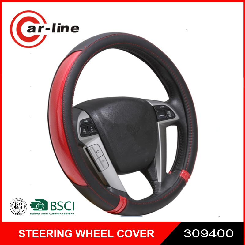 PU Leather All Season Fit Waterproof Car Steering Wheel Cover