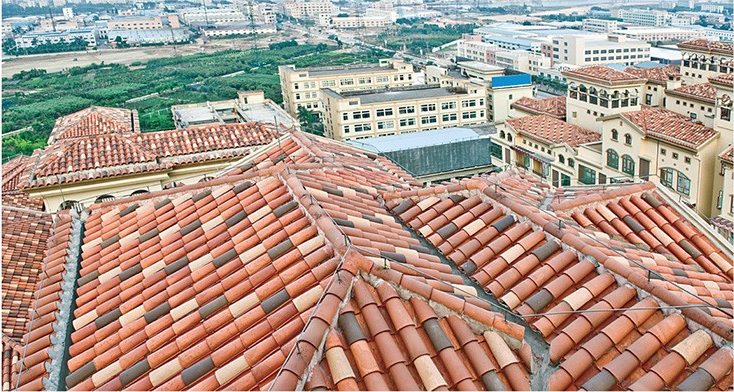 355 190 160mm glazed ceramic tile clay roof tiles for sale for Buy clay roof tiles online