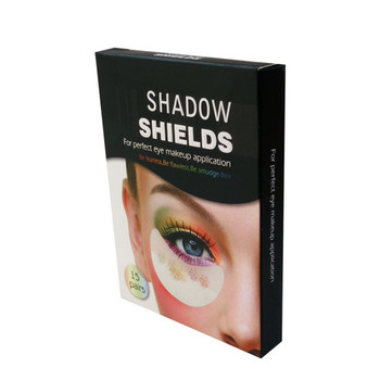 Disposable and hands free eye shadow shields