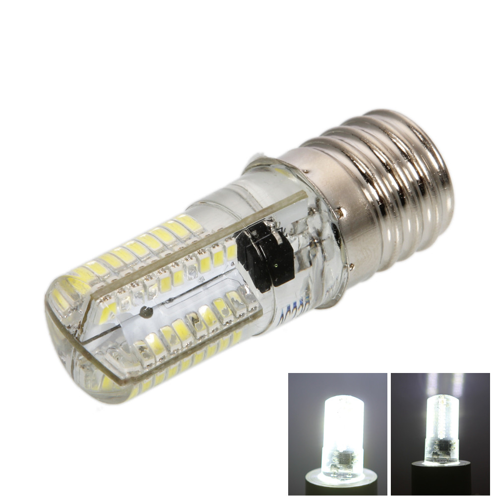 E17 LED 6000-6500K Pure White Light Dimmable Silicone LED Corn Light
