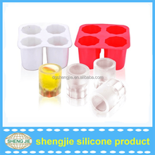 Eco-friendly FDA grade quality ice maker New style novelty 4 ice cube tray silicone ice cream mold
