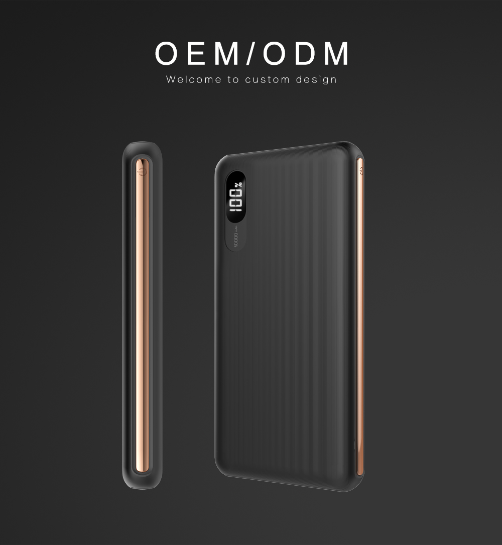Free sample Power Banks 10000mah LED Screen QC3.0 fast charger