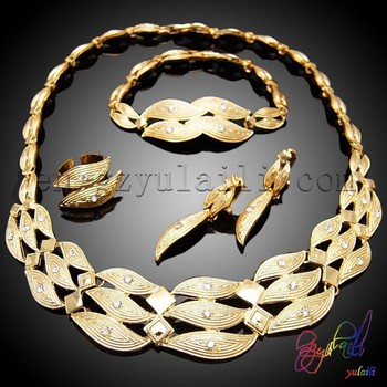 Costume Necklace Sets Fashion Jewelry 18 Carat Gold Jewelry Sets
