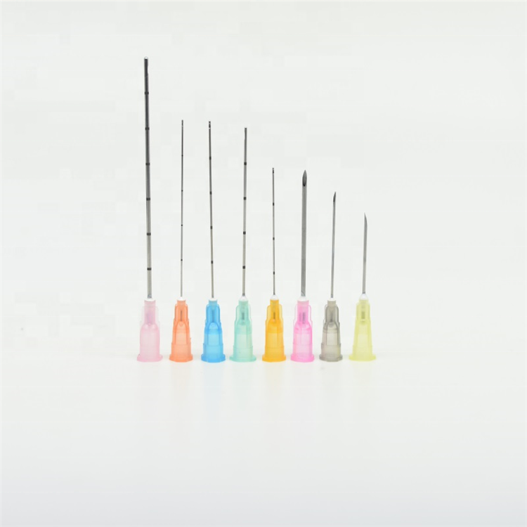 25g blunt micro cannula injection needles for dermal filler