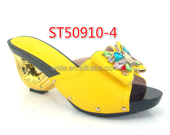 shoes rhinestone African with shoes ST50910 Bow style 2 pattern a6FqwCx