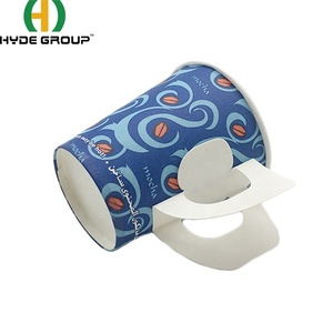 Star Product 7oz Paper Cups With Handle For Europe Market
