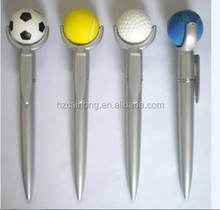 Promotional plastic ball pen with cute top CH-6835 pen with ball at top