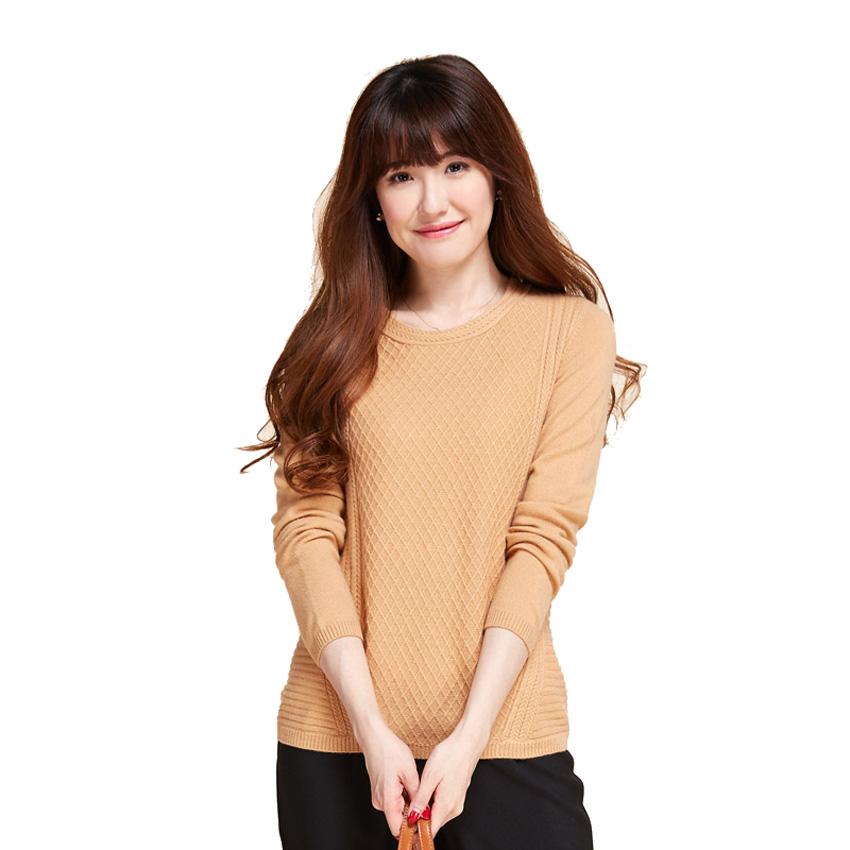 produits de qualité économiser jusqu'à 60% conception de la variété 2017 Wholesale Pull Femme 2017 Spring Autumn 100% Pure Cashmere Plaid  Knitted Cable Design Round Collar Fashion New Sweaters Jumper From Piterr,  ...