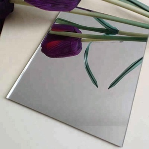3mm 4mm 6mm thickness clear float round beveled bathroom glass mirror
